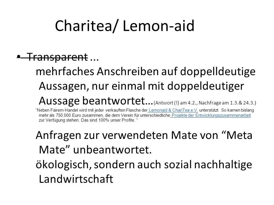 Charitea/ Lemon-aid Transparent ...