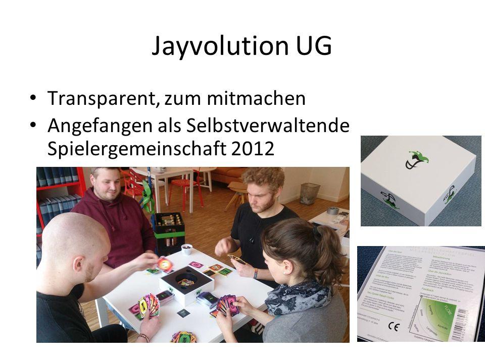 Jayvolution UG Transparent, zum mitmachen