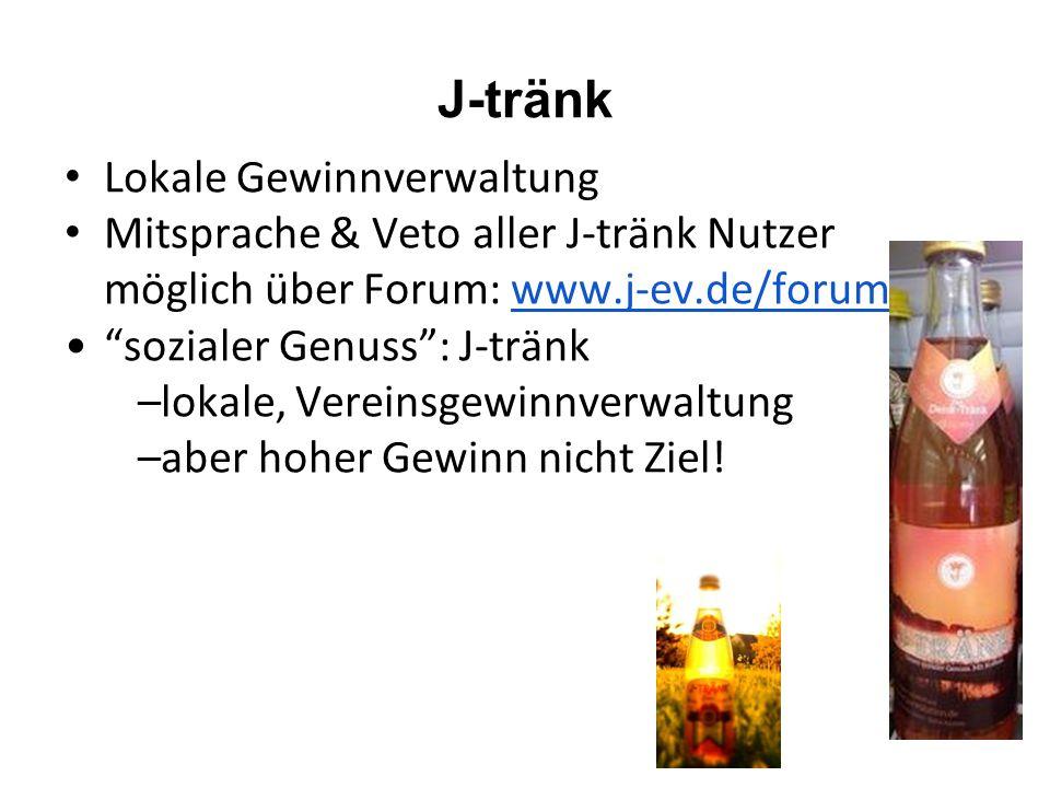 J-tränk Lokale Gewinnverwaltung