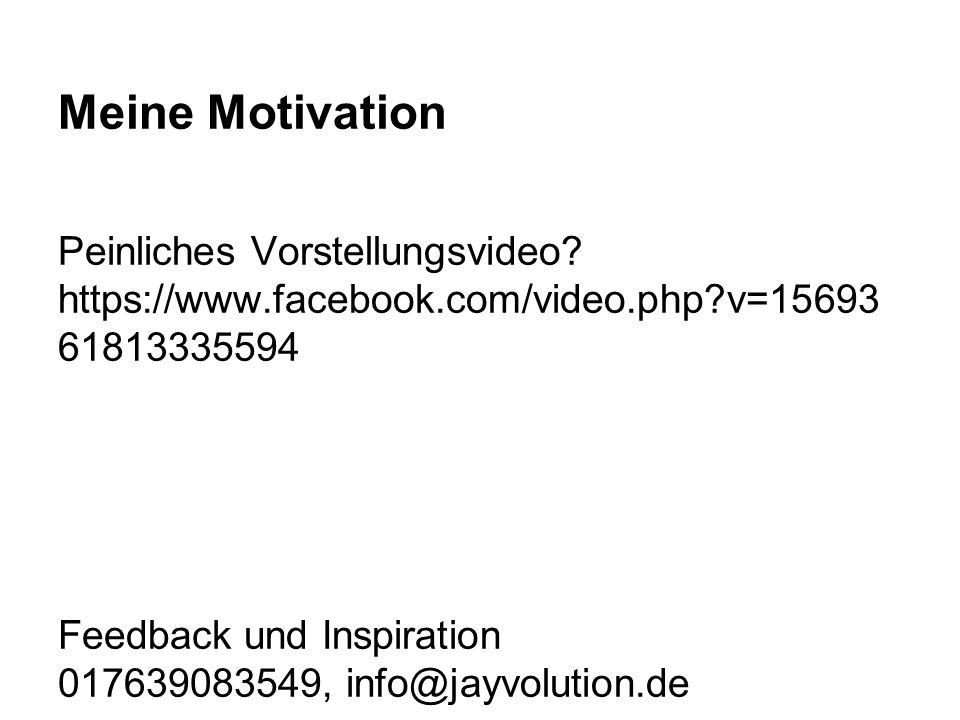 Meine Motivation Peinliches Vorstellungsvideo