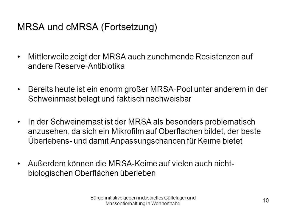 MRSA und cMRSA (Fortsetzung)