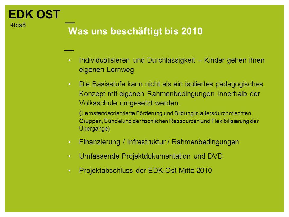 Was uns beschäftigt bis 2010