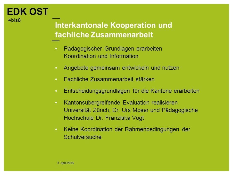 Interkantonale Kooperation und fachliche Zusammenarbeit