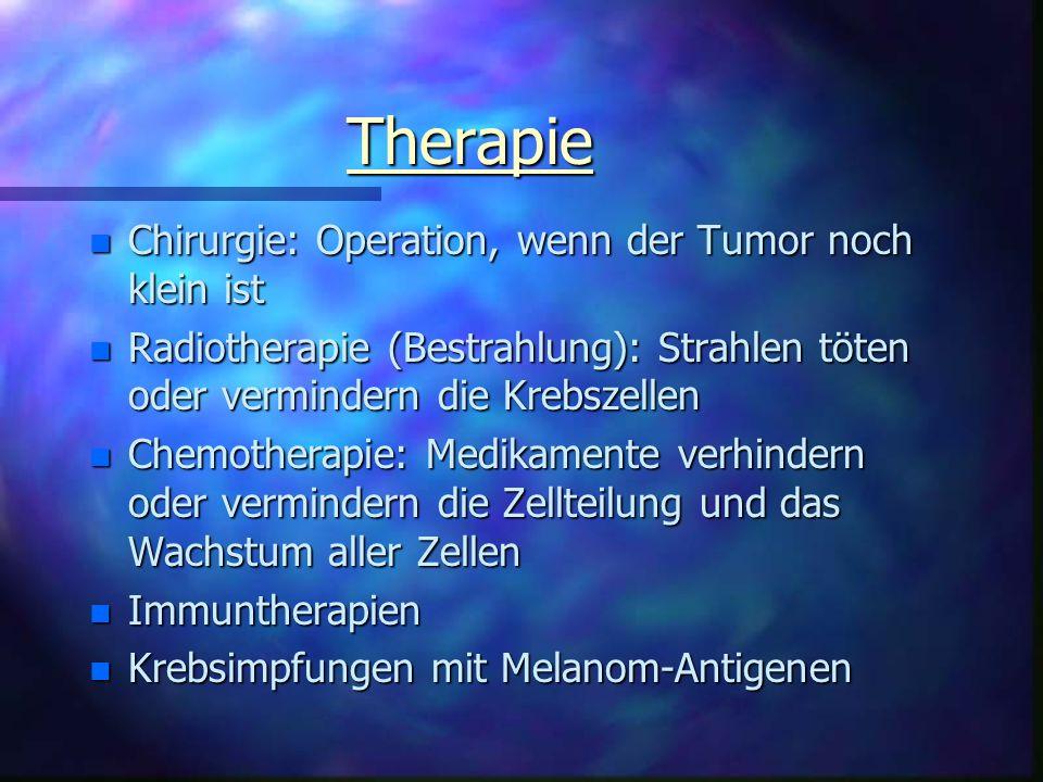 Therapie Chirurgie: Operation, wenn der Tumor noch klein ist