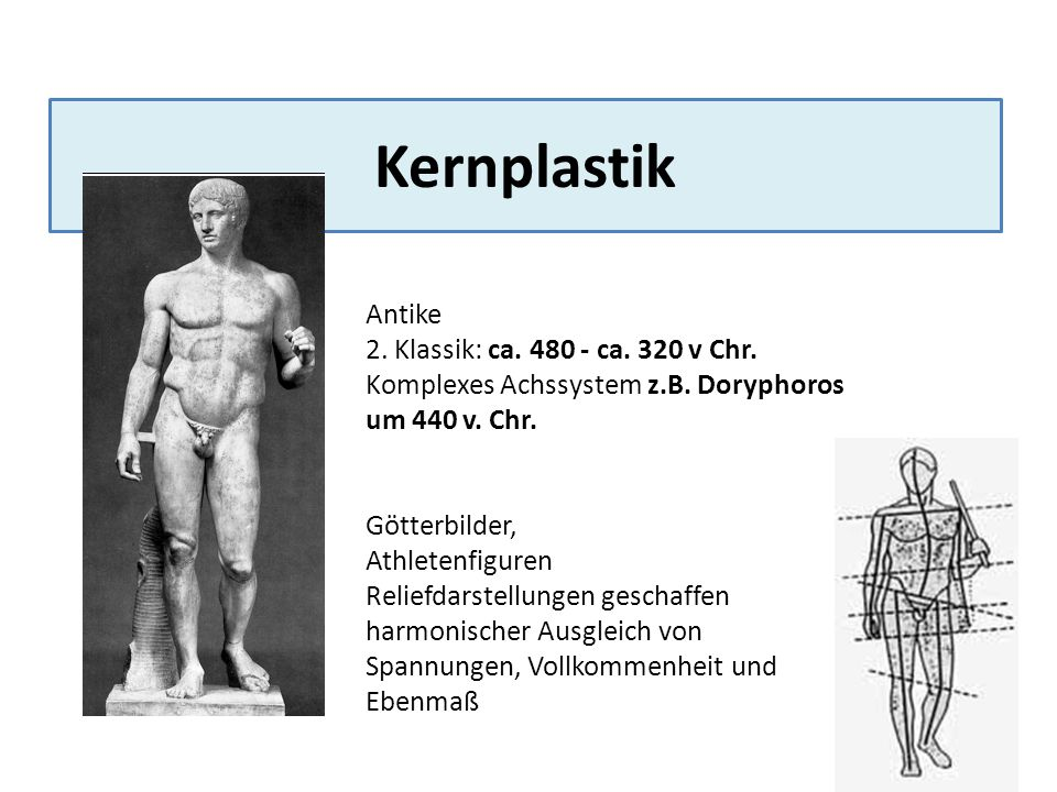 Kernplastik Antike 2. Klassik: ca. 480 - ca. 320 v Chr.