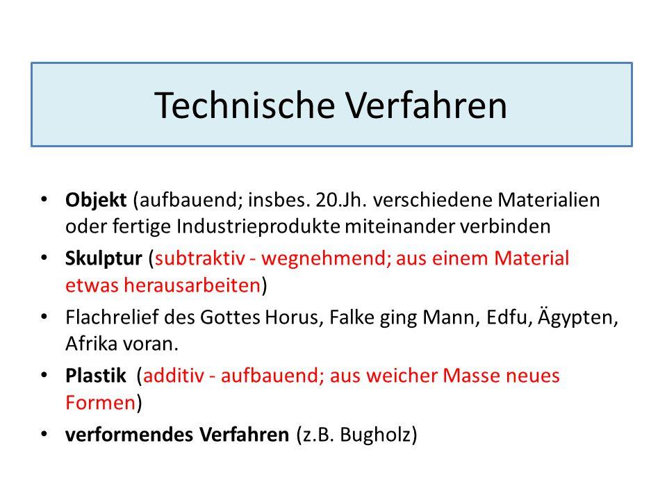 Technische Verfahren Objekt (aufbauend; insbes. 20.Jh. verschiedene Materialien oder fertige Industrieprodukte miteinander verbinden.
