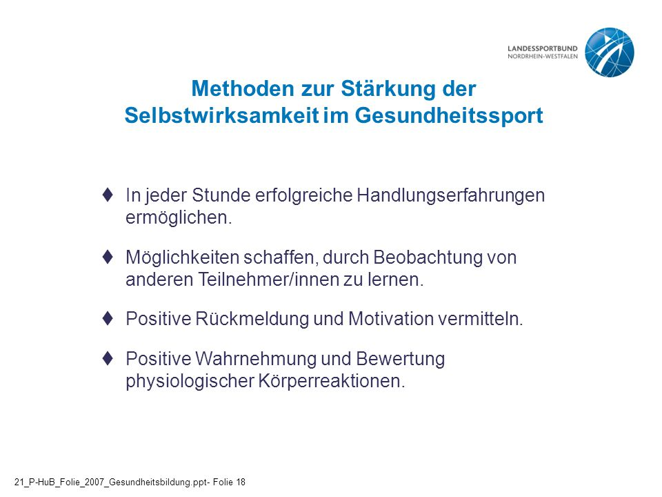 Methoden zur Stärkung der Selbstwirksamkeit im Gesundheitssport