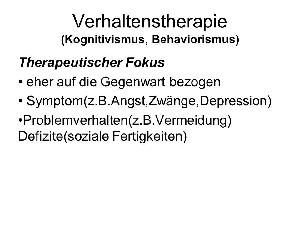 Verhaltenstherapie (Kognitivismus, Behaviorismus)