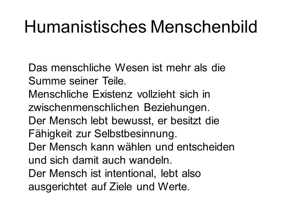 Humanistisches Menschenbild