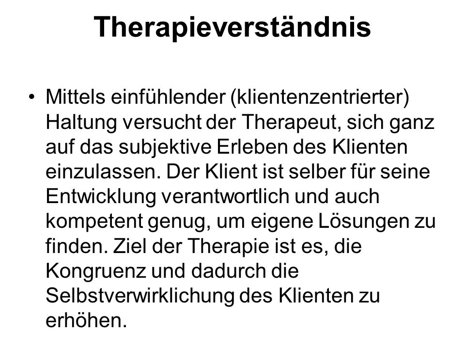 Therapieverständnis