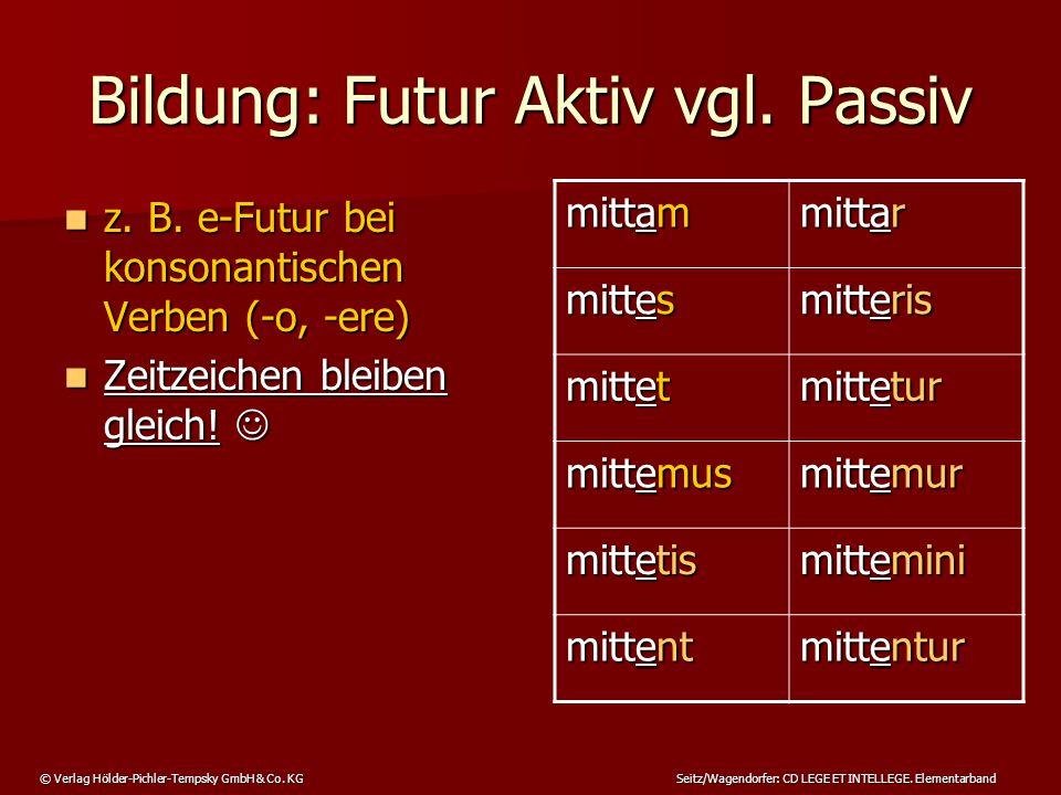 Bildung: Futur Aktiv vgl. Passiv