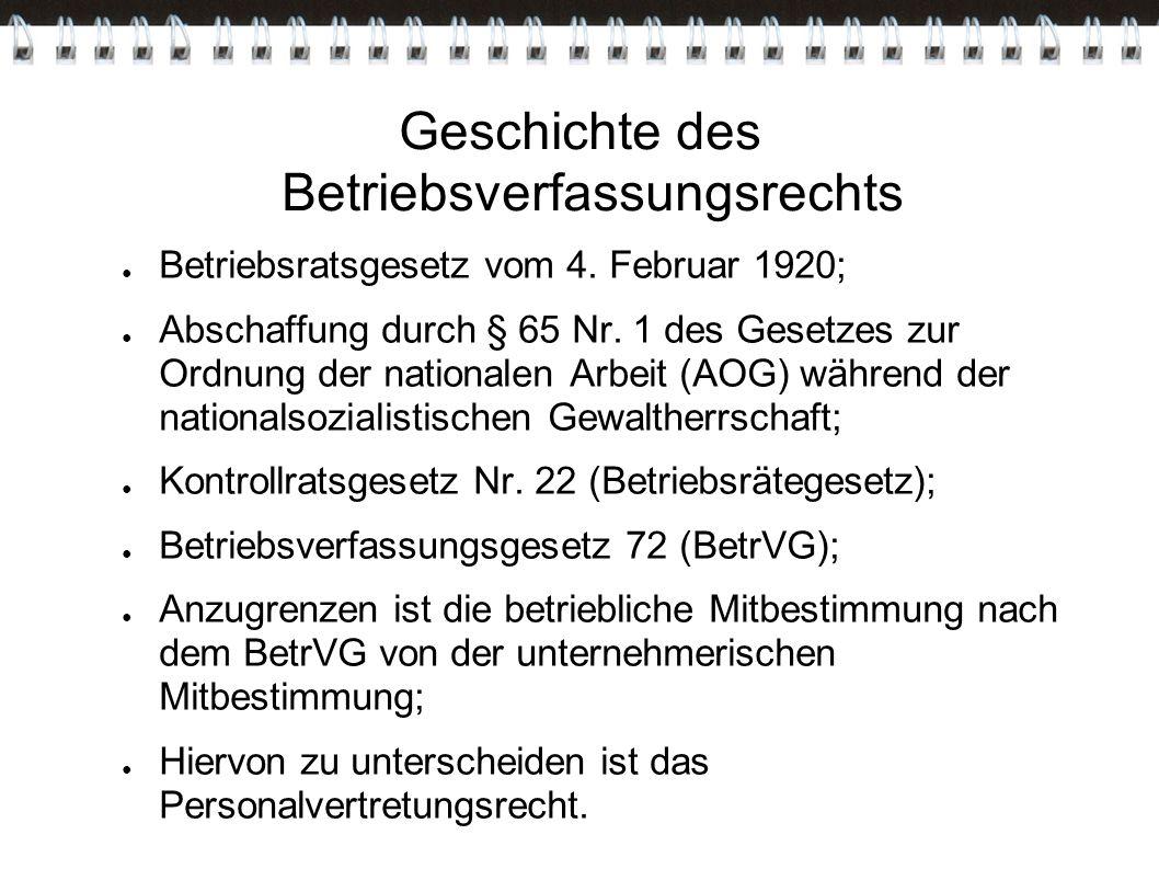 Geschichte des Betriebsverfassungsrechts