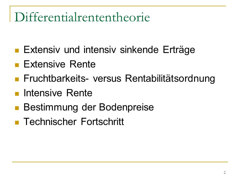 Differentialrententheorie
