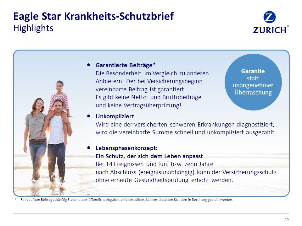 Eagle Star Krankheits-Schutzbrief Highlights