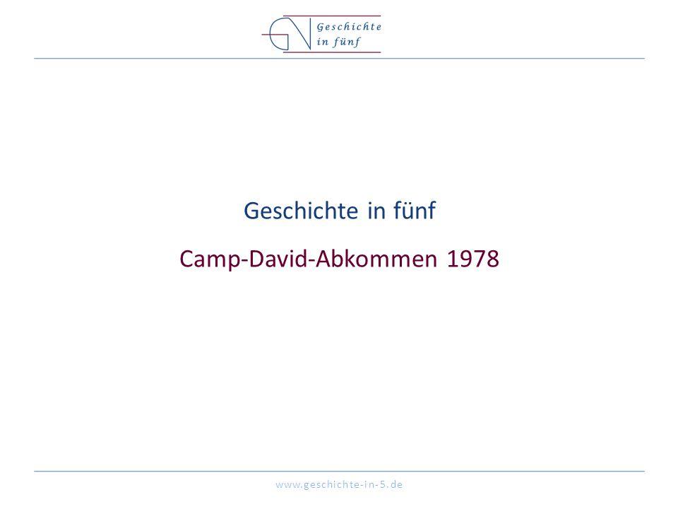 Geschichte in fünf Camp-David-Abkommen 1978