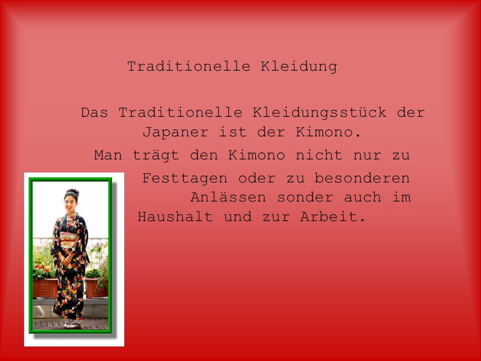 Traditionelle Kleidung