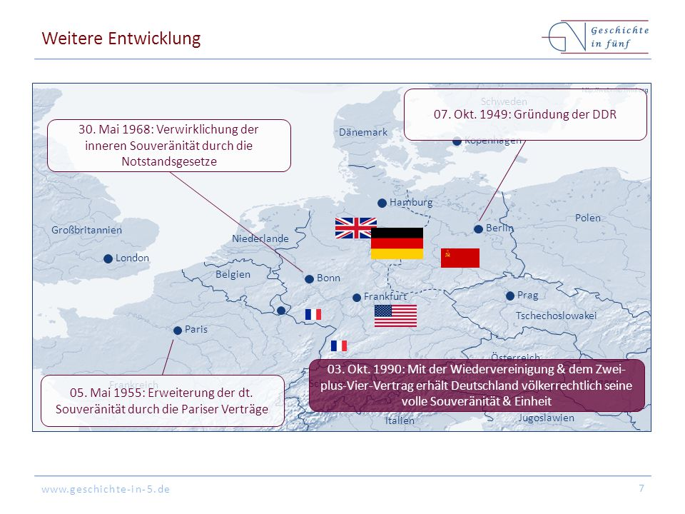 Weitere Entwicklung 07. Okt. 1949: Gründung der DDR