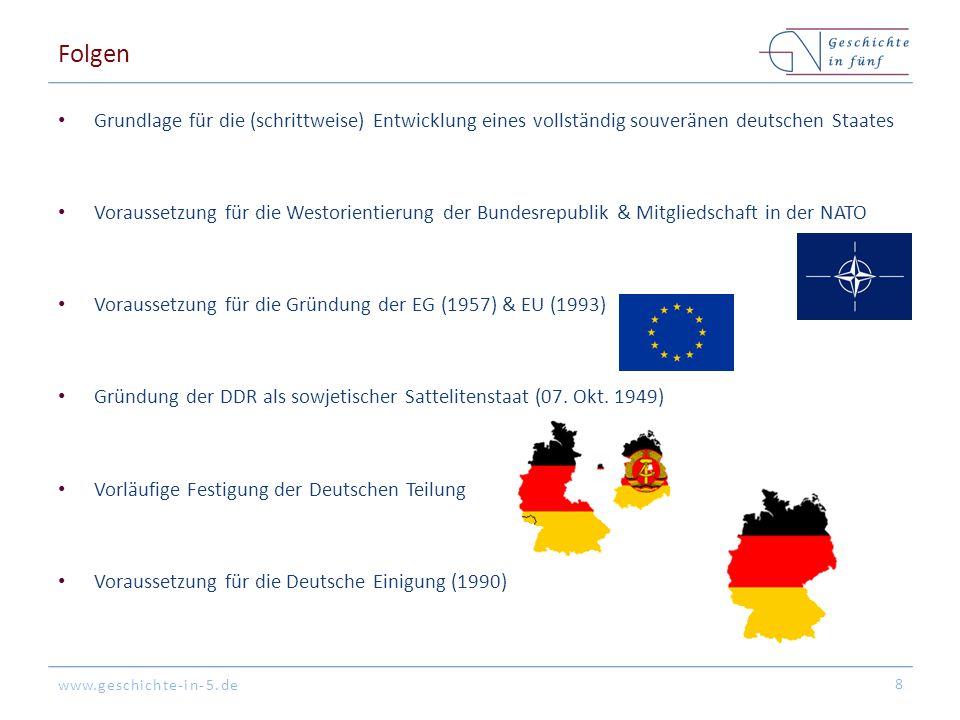Folgen Grundlage für die (schrittweise) Entwicklung eines vollständig souveränen deutschen Staates.