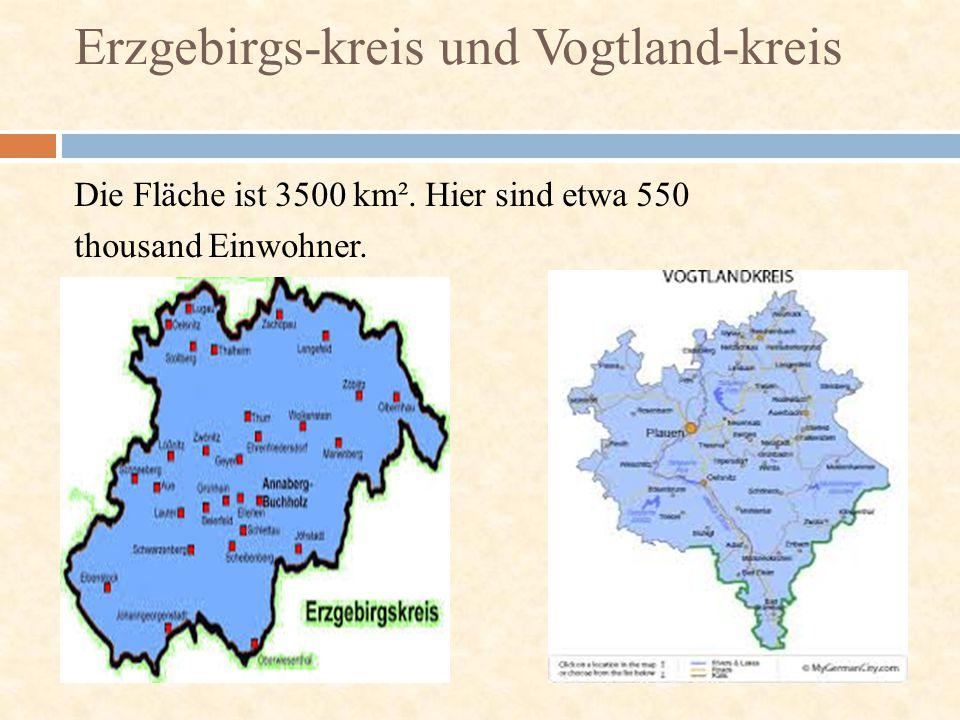 Erzgebirgs-kreis und Vogtland-kreis