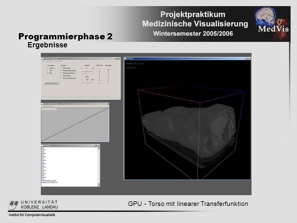 Programmierphase 2 Ergebnisse