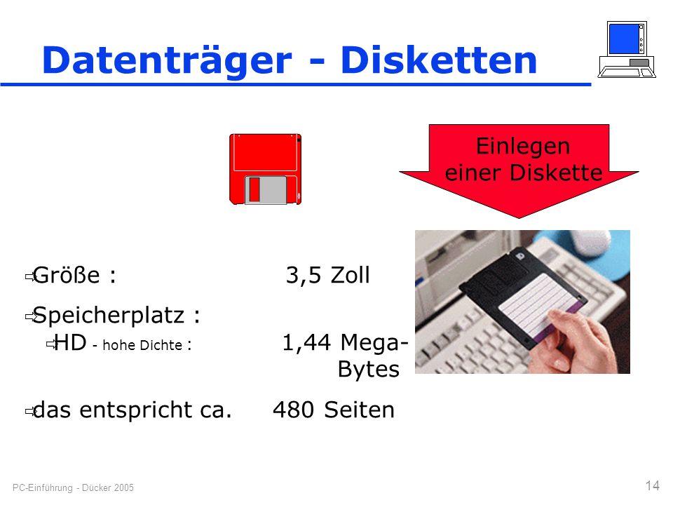 Datenträger - Disketten