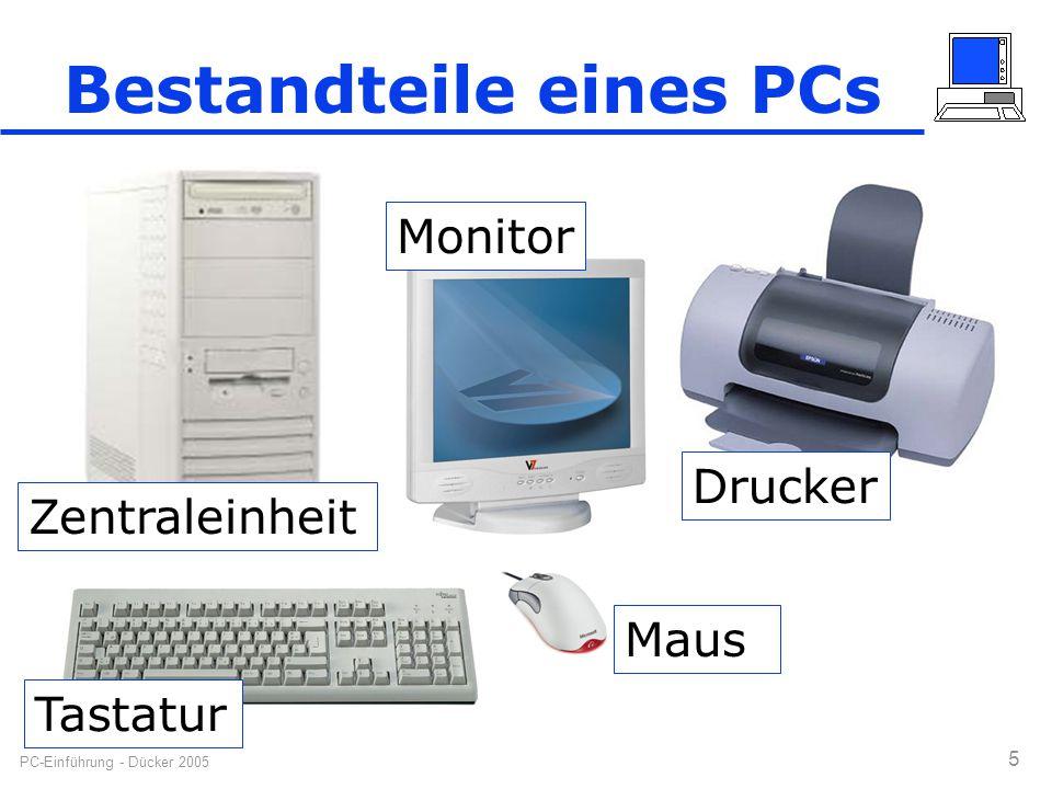 Bestandteile eines PCs