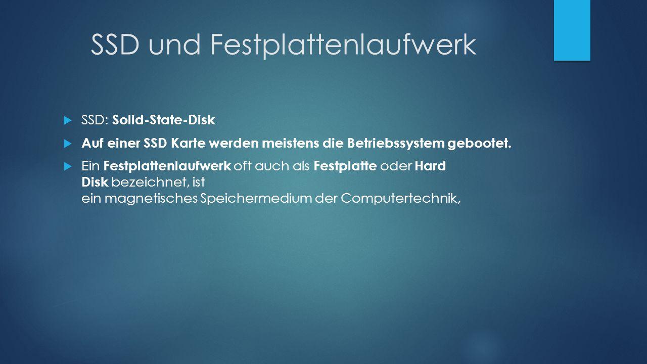 SSD und Festplattenlaufwerk