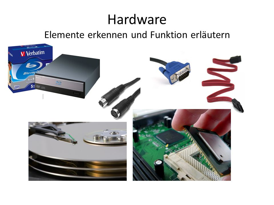 Hardware Elemente erkennen und Funktion erläutern