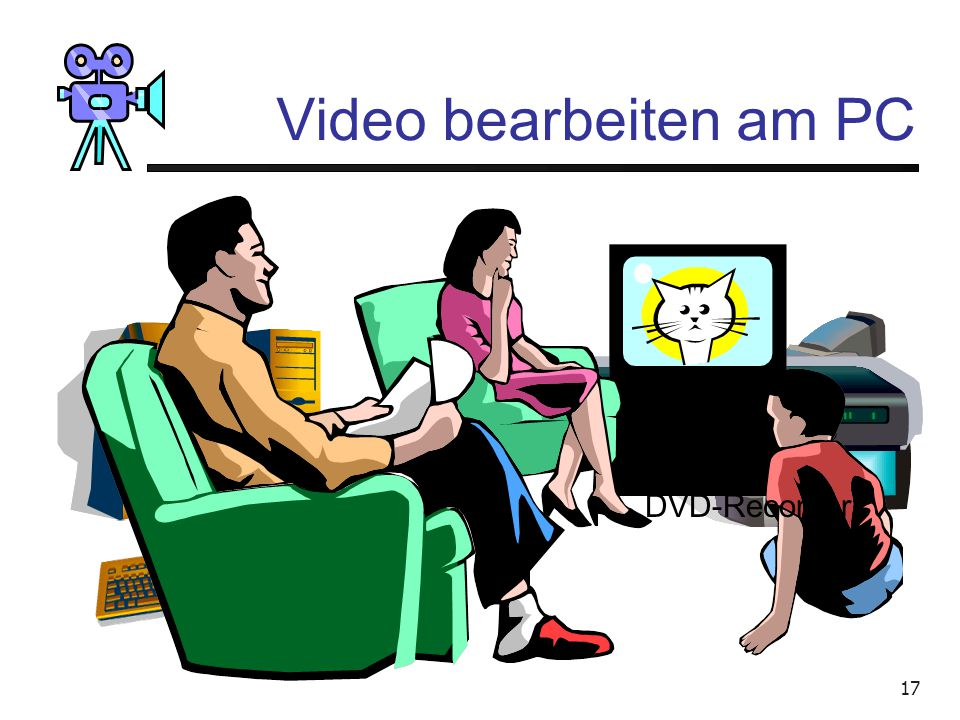 Video bearbeiten am PC DVD-Recorder