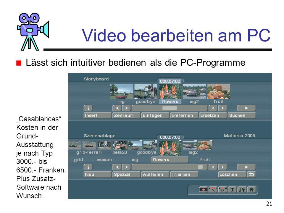 """Video bearbeiten am PC Lässt sich intuitiver bedienen als die PC-Programme. """"Casablancas Kosten in der."""