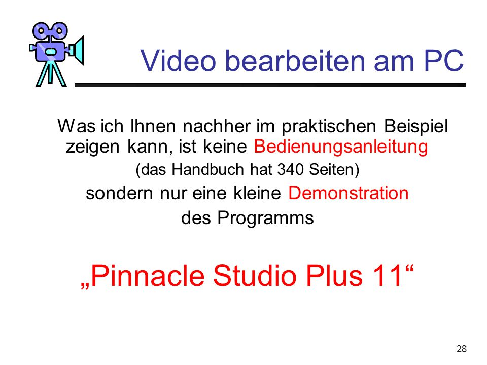 """Pinnacle Studio Plus 11"