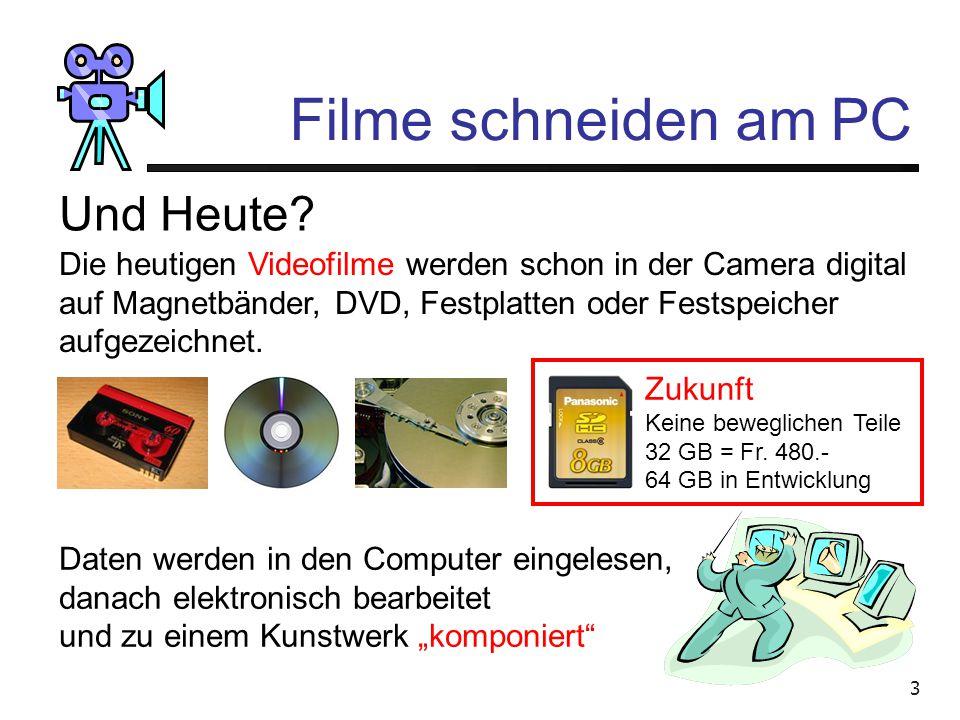 Filme schneiden am PC Und Heute