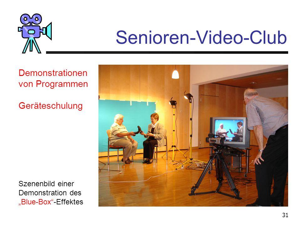 Senioren-Video-Club Demonstrationen von Programmen Geräteschulung
