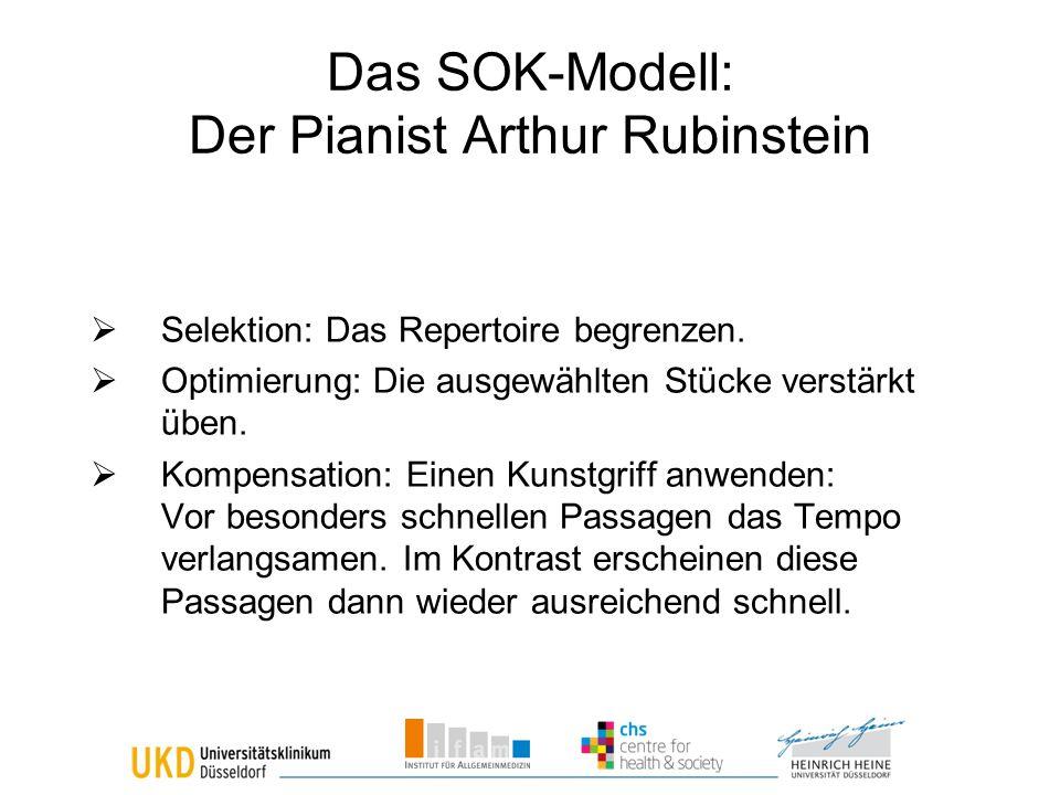 Das SOK-Modell: Der Pianist Arthur Rubinstein