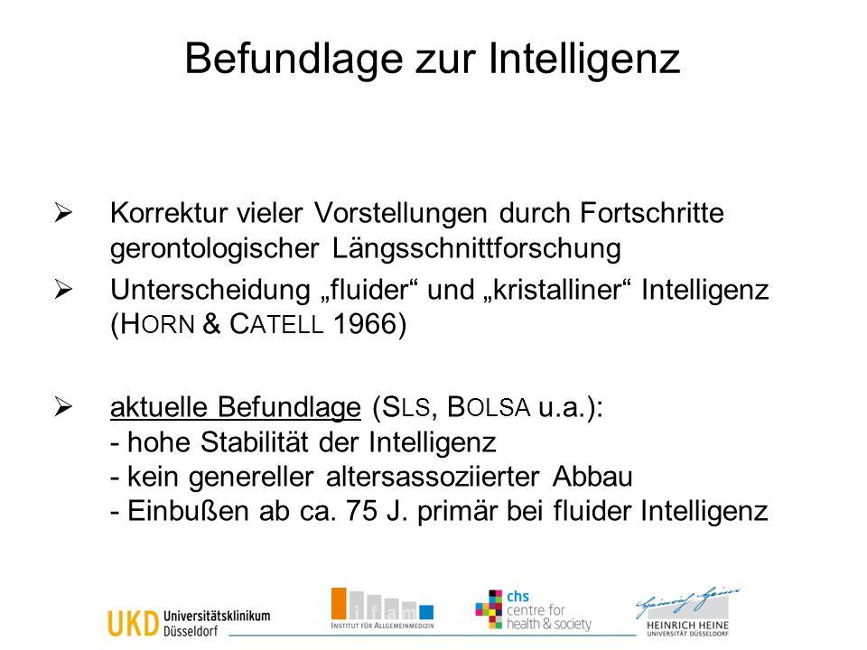 Befundlage zur Intelligenz
