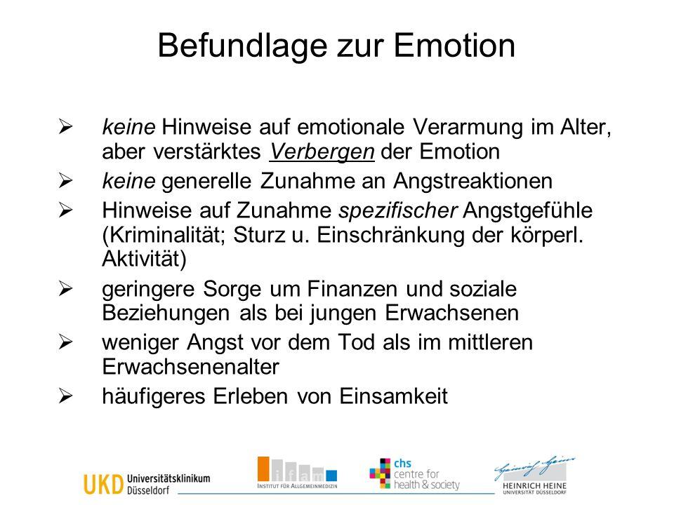 Befundlage zur Emotion