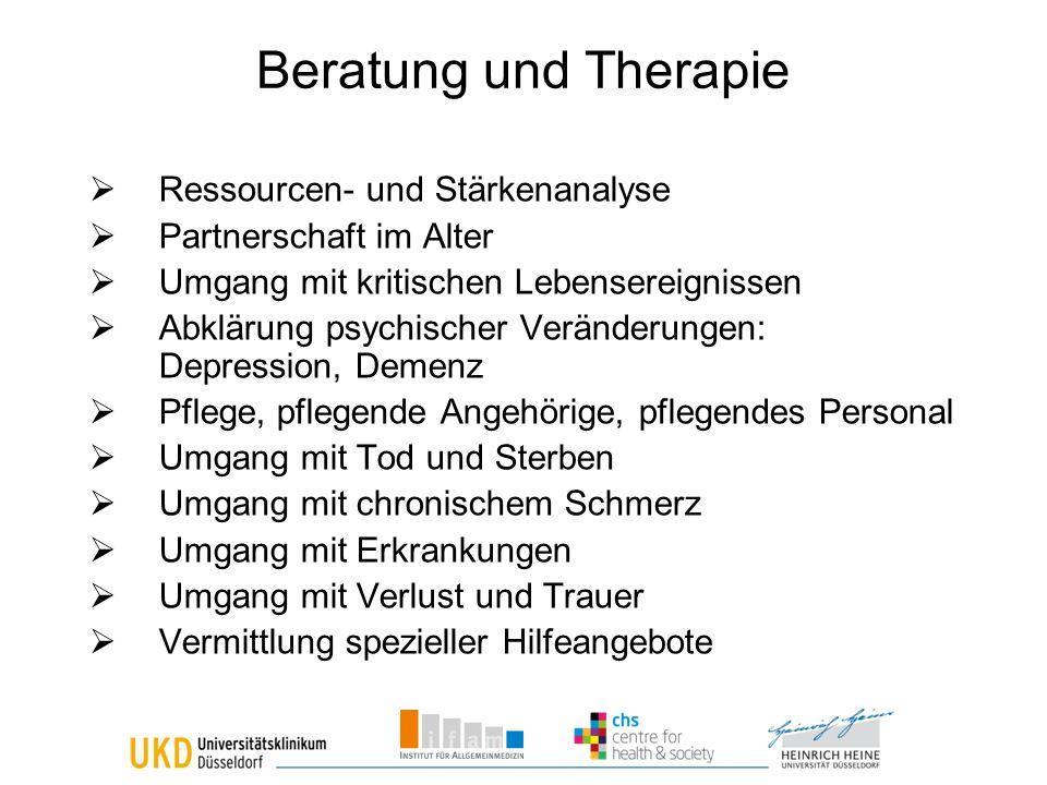 Beratung und Therapie Ressourcen- und Stärkenanalyse