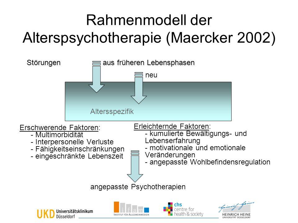 Rahmenmodell der Alterspsychotherapie (Maercker 2002)