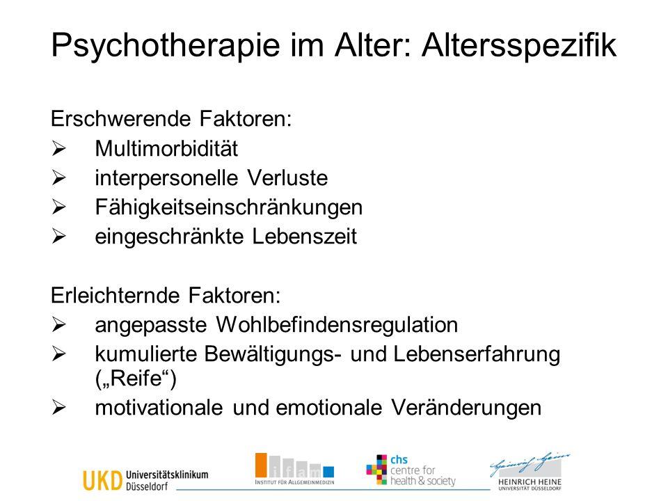 Psychotherapie im Alter: Altersspezifik
