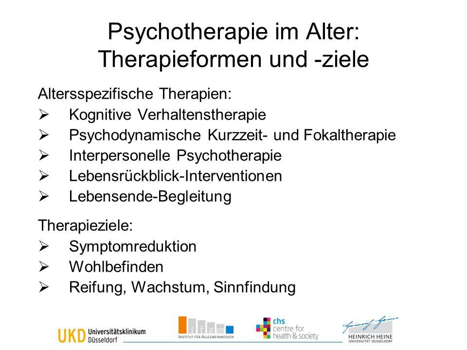 Psychotherapie im Alter: Therapieformen und -ziele
