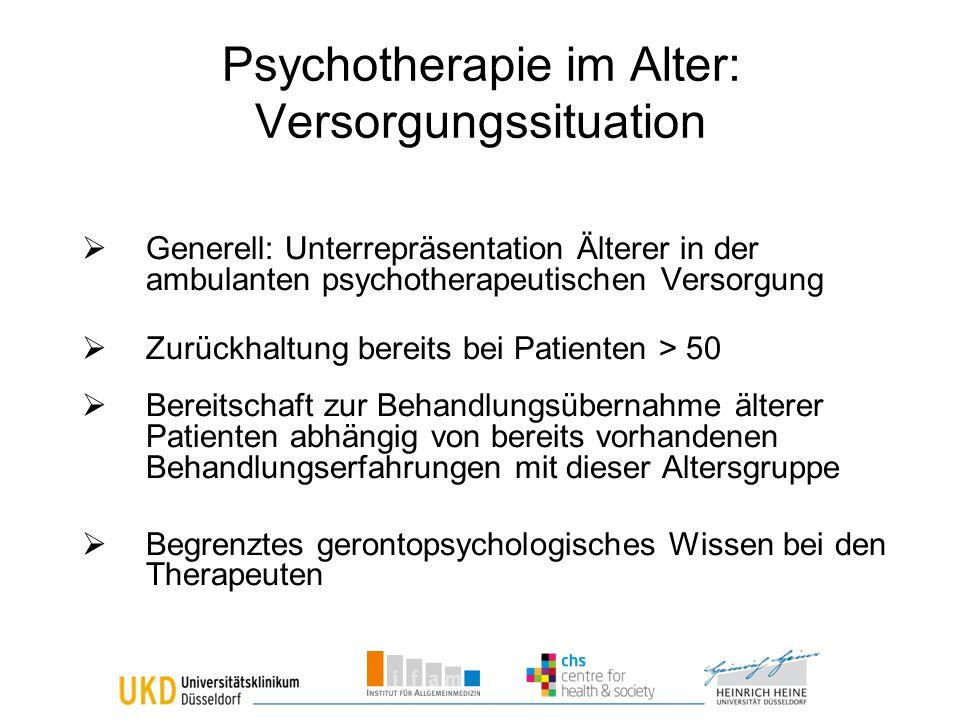 Psychotherapie im Alter: Versorgungssituation
