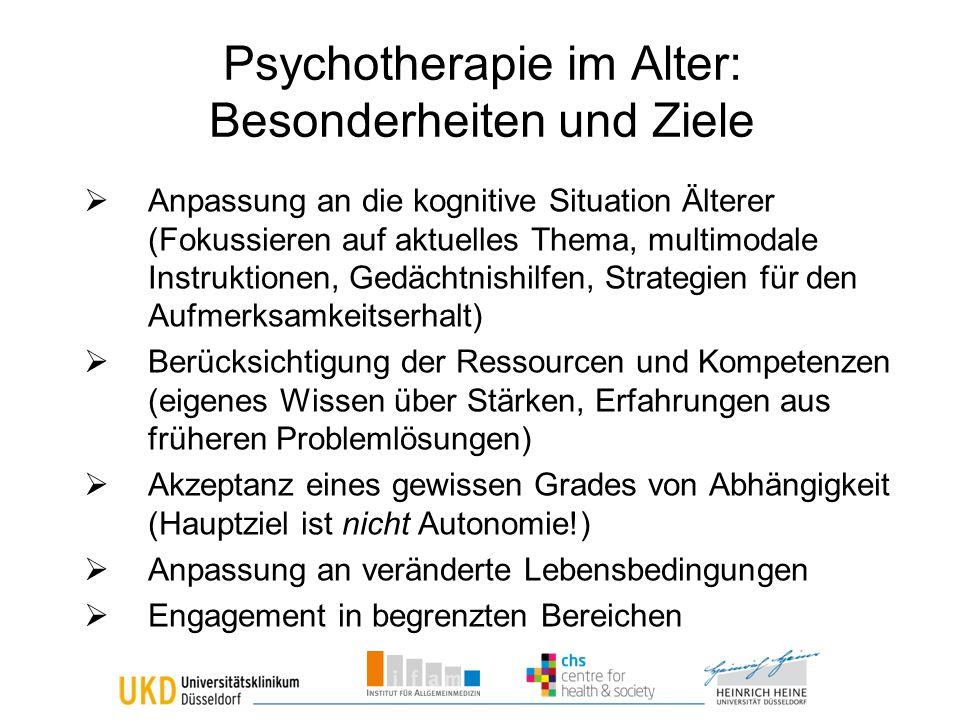 Psychotherapie im Alter: Besonderheiten und Ziele