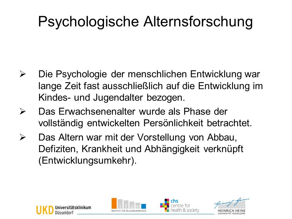 Psychologische Alternsforschung