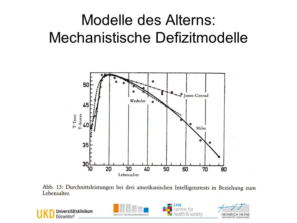 Modelle des Alterns: Mechanistische Defizitmodelle
