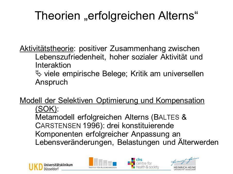 """Theorien """"erfolgreichen Alterns"""