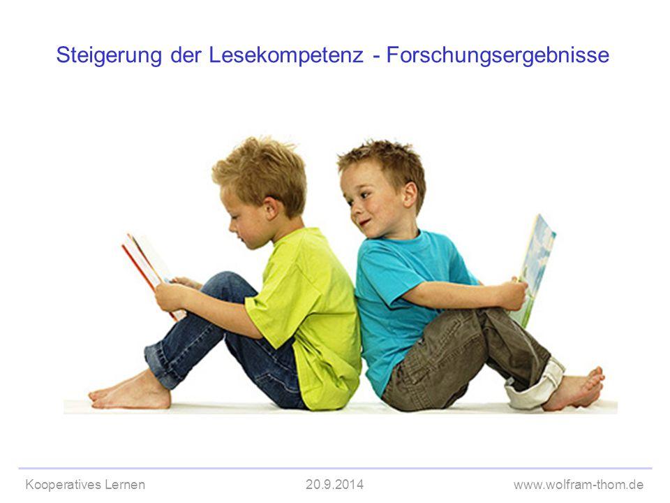 Steigerung der Lesekompetenz - Forschungsergebnisse
