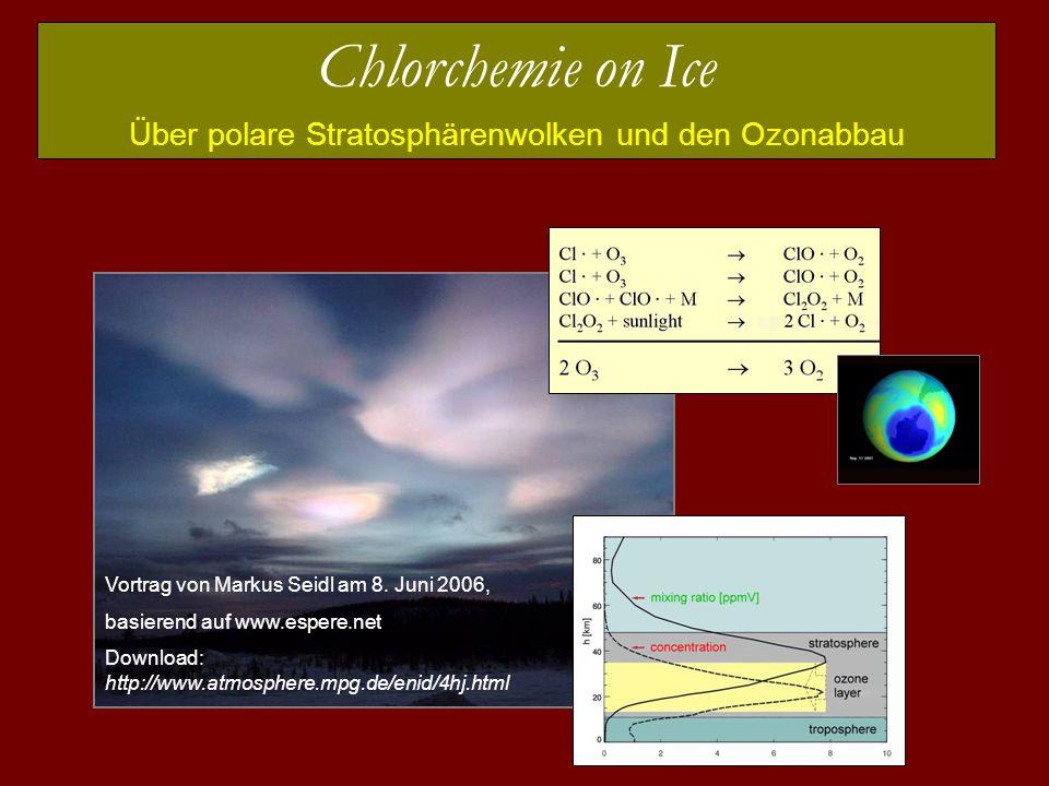 Über polare Stratosphärenwolken und den Ozonabbau