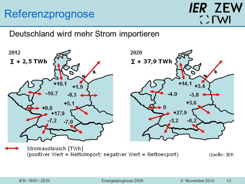 Referenzprognose Deutschland wird mehr Strom importieren
