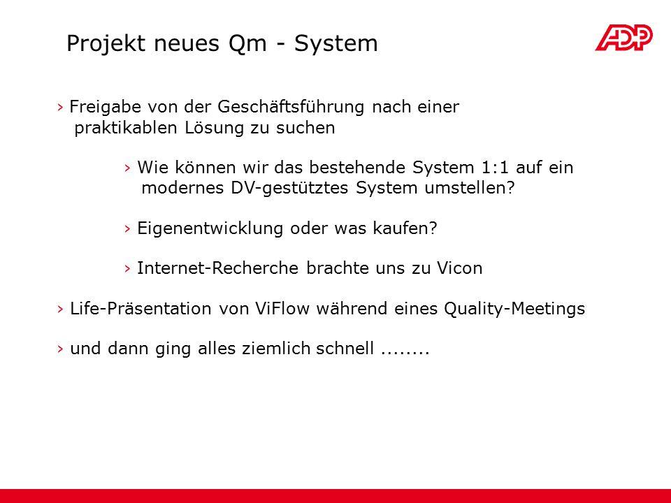 Projekt neues Qm - System