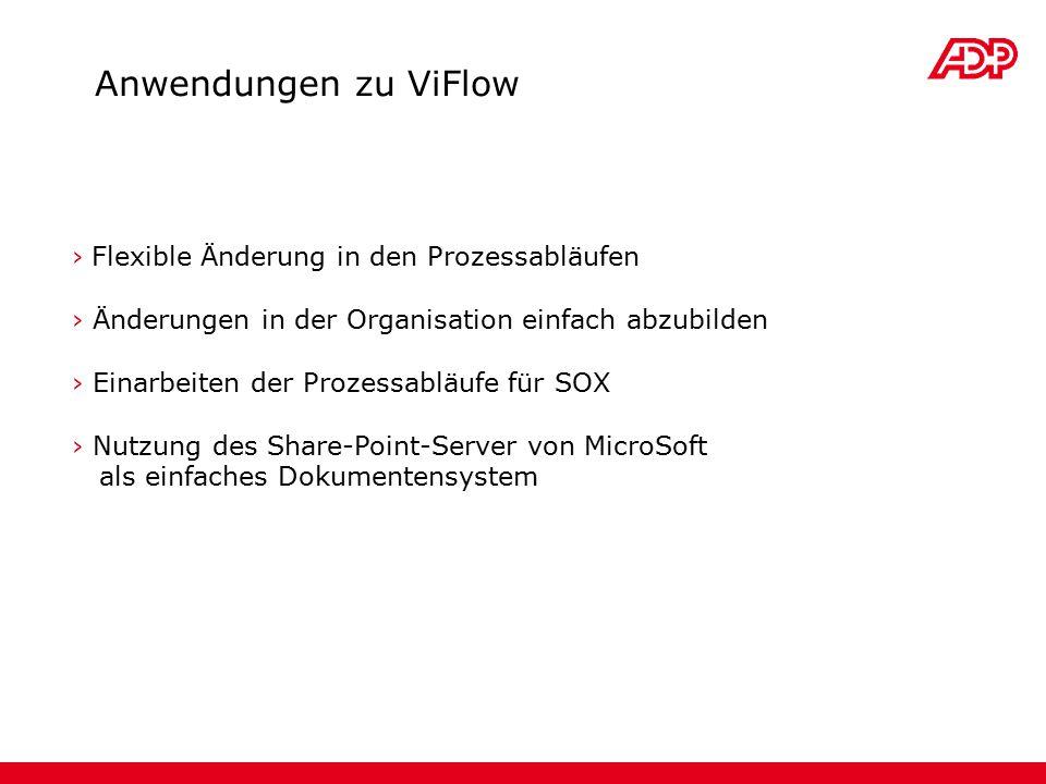 Anwendungen zu ViFlow Flexible Änderung in den Prozessabläufen